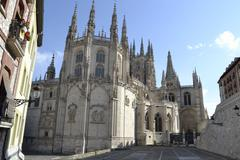 burgos cathedral from backside. burgos, spain - stock photo