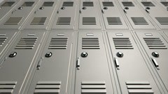 School lockers flat pan Stock Footage