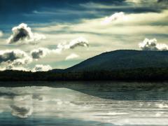 Pleasant lake Stock Photos