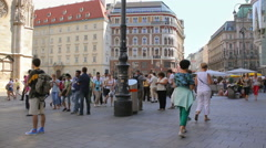 The Stephansplatz  is in the center of Vienna, Vienna's buildings Stock Footage