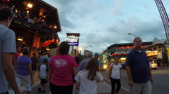 Crowd walking Gatlinburg Tennessee - stock footage
