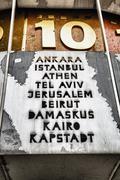 world clock at alexanderplatz, berlin, germany - stock photo