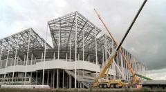 Building works of New UEFA euro 2016 Stadium in Timelapse 9 - stock footage