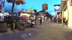 Gatlinburg Tennessee at night - stock footage