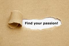 find your passion torn paper - stock photo