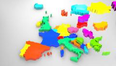 Colorful Europe map, 2014 (animated) Stock Footage