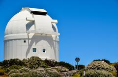 Telescopes of the teide astronomical observatory Stock Photos