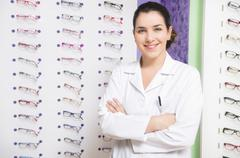 optical store - stock photo