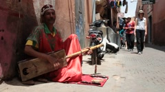 Traditional Moroccan Musician - Marrakech#2 Stock Footage