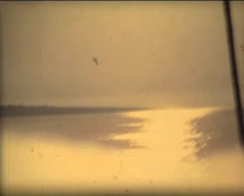 SUPER8 GREECE ITALY abstract sun reflection on the sea Stock Footage