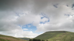 Brecon beacons wales timelapse field countryside Stock Footage