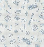 technopattern - stock illustration