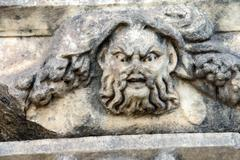 greek theatre mask - stock photo