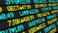 4K Stock Market Ticker Stationary Stock Footage