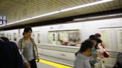 People on the Tokyo subway, Japan Stock Footage