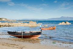 boats in o grove, pontevedra, galicia, spain - stock photo