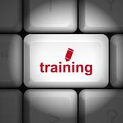 Training concept with computer keyboard Stock Illustration
