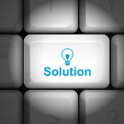 Solution concept with computer keyboard Stock Illustration