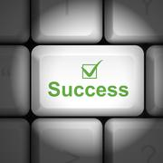 Stock Illustration of success concept with computer keyboard