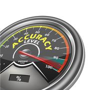 Stock Illustration of accuracy level conceptual meter indicate hundred percent