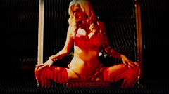 lingerie model sexy distort analogue - stock footage