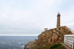 cabo vilan in costa da morte, galicia, spain - stock photo