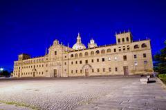 Colegio de nuestra se?ora de la antiga, monforte de lemos, lugo, galicia Stock Photos