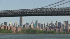 The Williamsburg Bridge in New York City Stock Footage