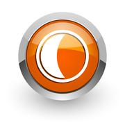 Moon orange glossy web icon Piirros