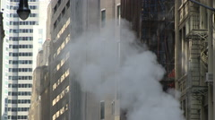 Steam from New York Street - stock footage