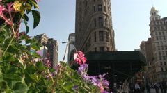 Flatiron Building in NYC Stock Footage