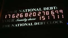 National Debt Clock Stock Footage