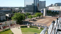 Birmingham City Centre - Centenary Square. Stock Footage