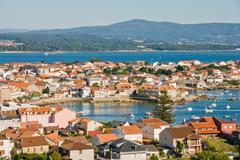 view of isla de arousa, galicia, spain - stock photo