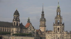 Beautiful Dresden church architecture german style Frauenkirche  cathedral dome  Stock Footage