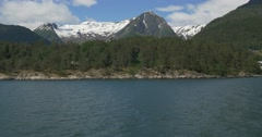4K, Norway, Boat Trip along the coastline of a Fjord - stock footage