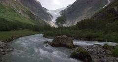 4K, Norway, Brikdalsbreen Glacier Stock Footage