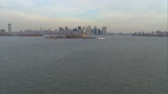 Statue of Liberty Manhattan Stock Footage