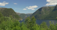 .4K, Norway, Epic view on a Fjord Stock Footage