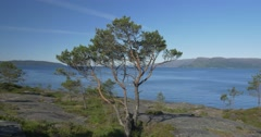4k, norway, epic view on a fjord Stock Footage