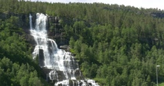 4k, norway, epic and beautiful waterfall Stock Footage