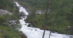 4k, norway, epic and huge waterfall Stock Footage