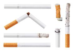 set of cigarettes. isolated on white background - stock photo