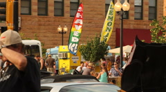 Refreshment stand at street fair 2 Stock Footage