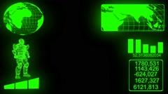 Hi-tech HUD Display Animation Stock Footage