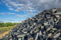 Abandoned slate mine - stock photo