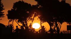 Sunset Capetown Stock Footage