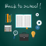 Back to school concept Stock Illustration