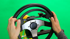 Steering wheel for disabled Stock Footage