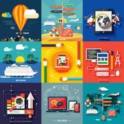 Icons for web design, seo, social media Piirros